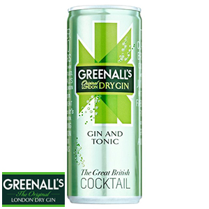 Buy Greenall S Gin And Tonic Cans Case Of 8 Cans At Home Bargains