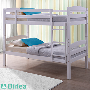 Buy Birlea Chatsworth White Bunk Bed Frame At Home Bargains