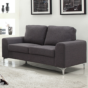 Buy Concept Furniture Sara Two Seater Sofa Grey At Home Bargains