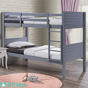 Buy Birlea Dakota Bunk Bed Grey At Home Bargains