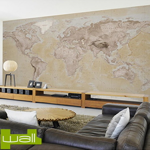 Buy 1wall neutral map giant wallpaper mural at home bargains for Wallpaper home bargains
