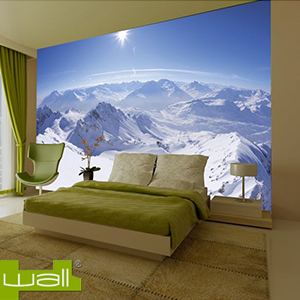Buy 1wall mountain giant wallpaper mural at home bargains for Wallpaper home bargains