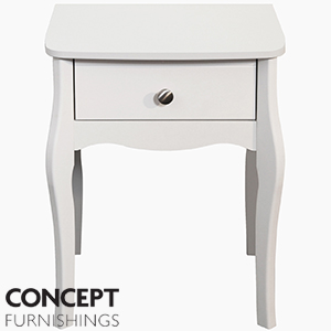 Buy provence white bedside table at home bargains for Buy white bedside table