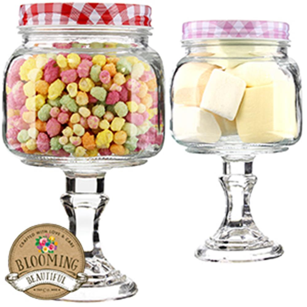 Picture of Blooming Beautiful Glass Sweet Jar on Stand (Case of 12)