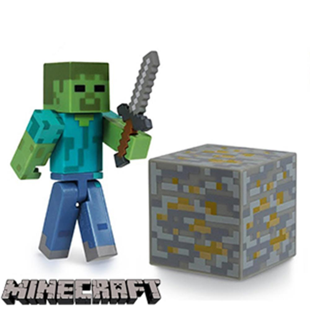 Buy Minecraft Overworld Zombie Figure at Home Bargains