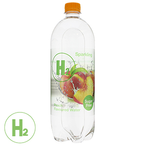 Buy H2o Sparkling Peach Flavoured Water 12 X 1l Bottles At Home
