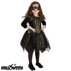 picture of halloween girls gold bat witch costume