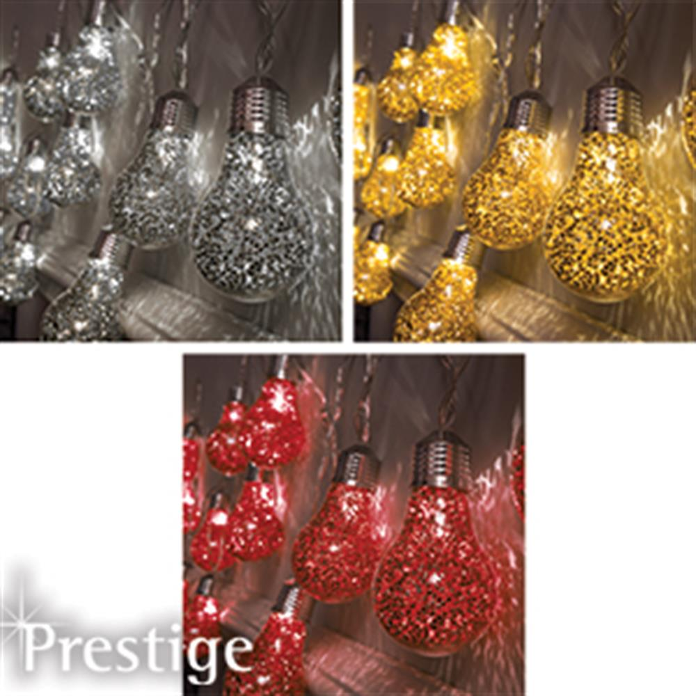 Picture of Prestige Lighting: 20 Glitter Bulb String Lights
