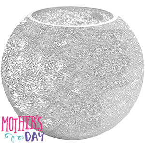 Buy special occasion crackle silver pink fish bowl vase for Target fish bowl