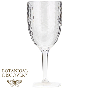 Picture of Botanical Discovery: 24 Dimpled Plastic Wine Goblets