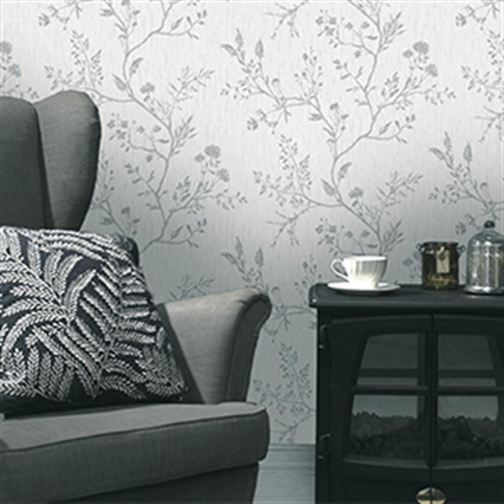Picture of K2 Feature Wallcovering: Hanako Grey Duplex