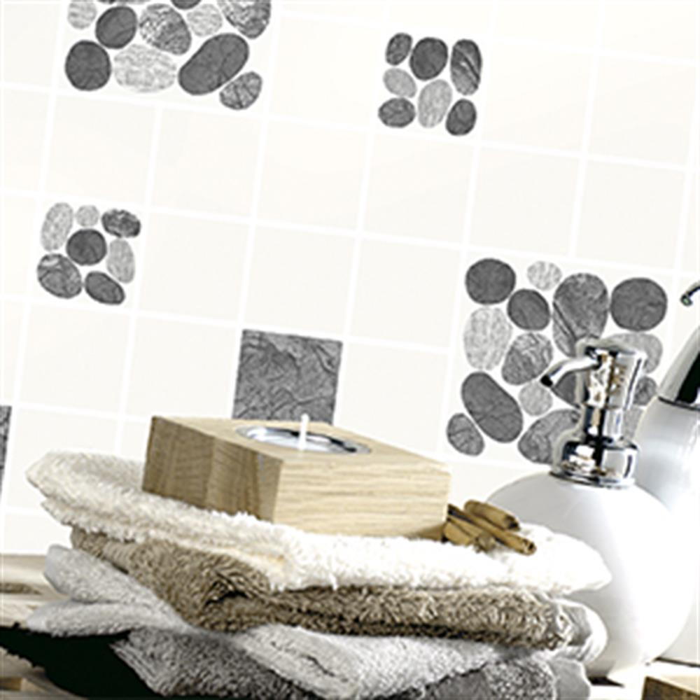 Picture of Tiling on a Roll Wallcovering: Seashore Tile Black