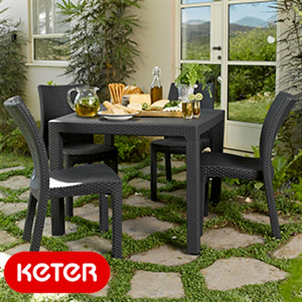 Picture of Keter Graphite Quartet 95 Table
