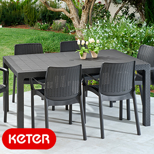 Buy Keter Melody Large Rectangle Table At Home Bargains