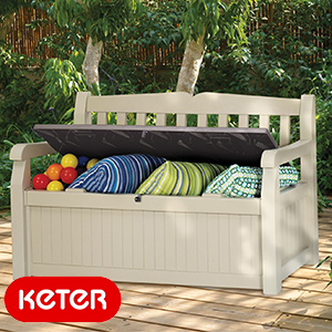 Buy Keter Eden 2 In 1 Bench And Storage Chest At Home Bargains