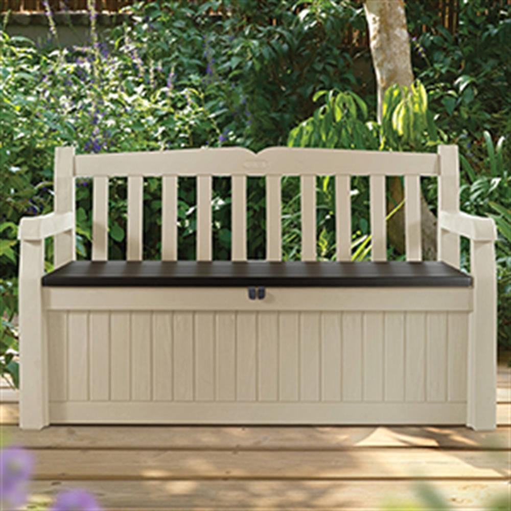 Outstanding Buy Keter Eden 2 In 1 Bench And Storage Chest At Home Bargains Andrewgaddart Wooden Chair Designs For Living Room Andrewgaddartcom