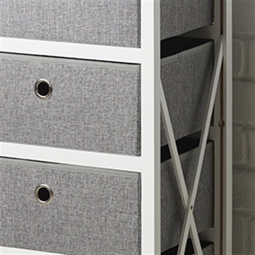 Picture of Folding Grey & White 4-Drawer Storage