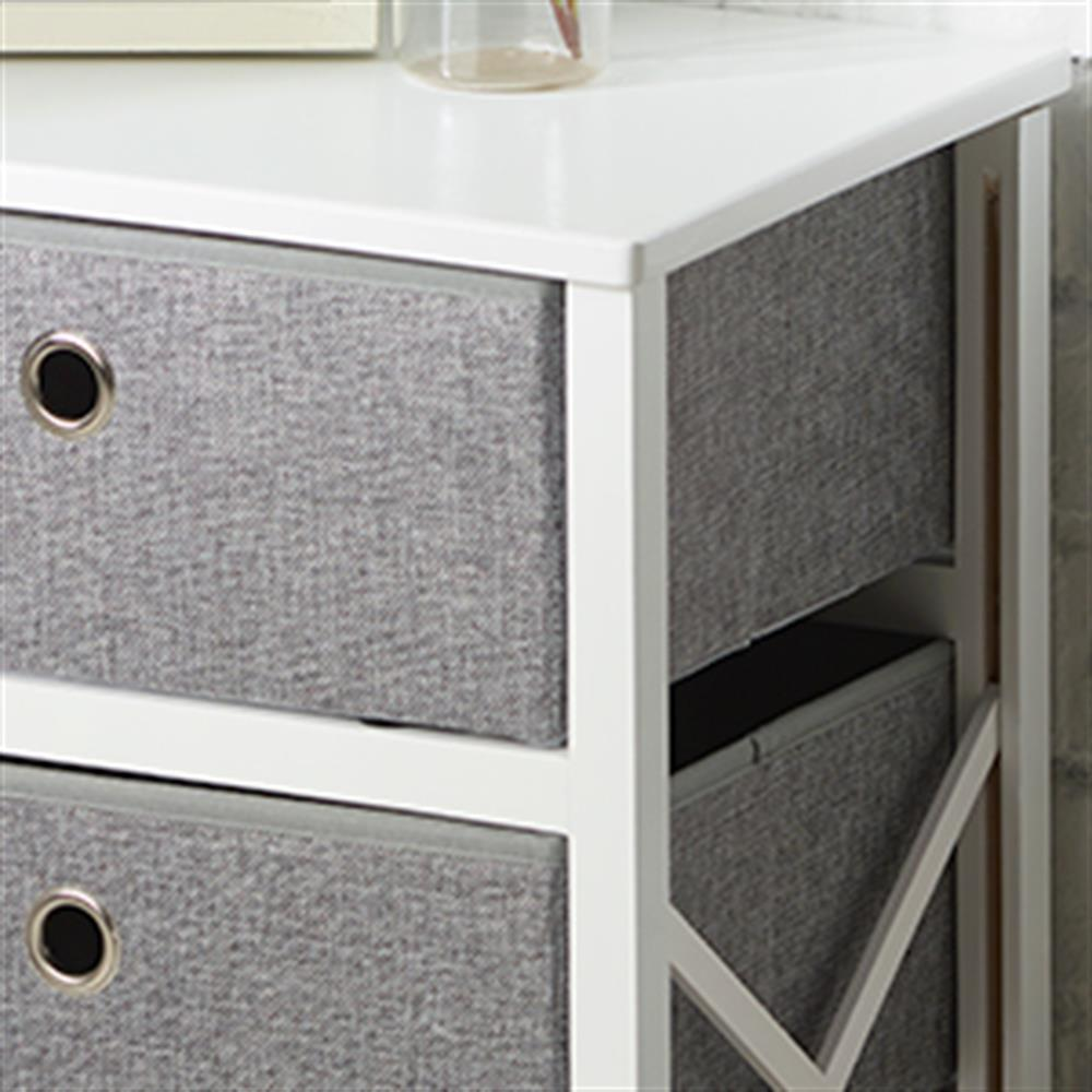 Picture of Folding Grey & White 2-Drawer Storage