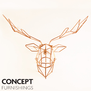 Picture of Concept Furnishings: Copper Stag Head Wall Mount