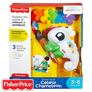 buy fisher price smart scan colour chameleon at home bargains