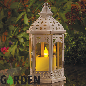 Buy Garden Solar Powered Candle Lantern At Home Bargains