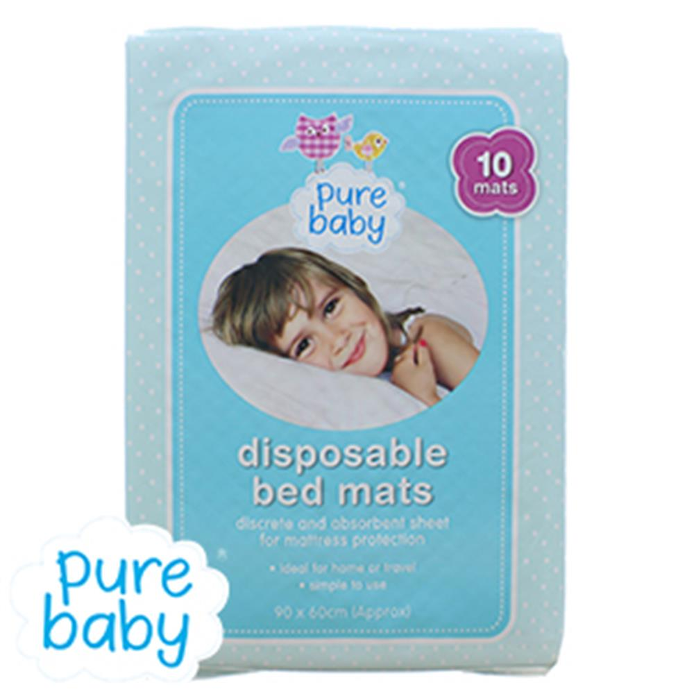 Picture of PureBaby Disposable Bed Mats (Case of 6 x 10 Packs)
