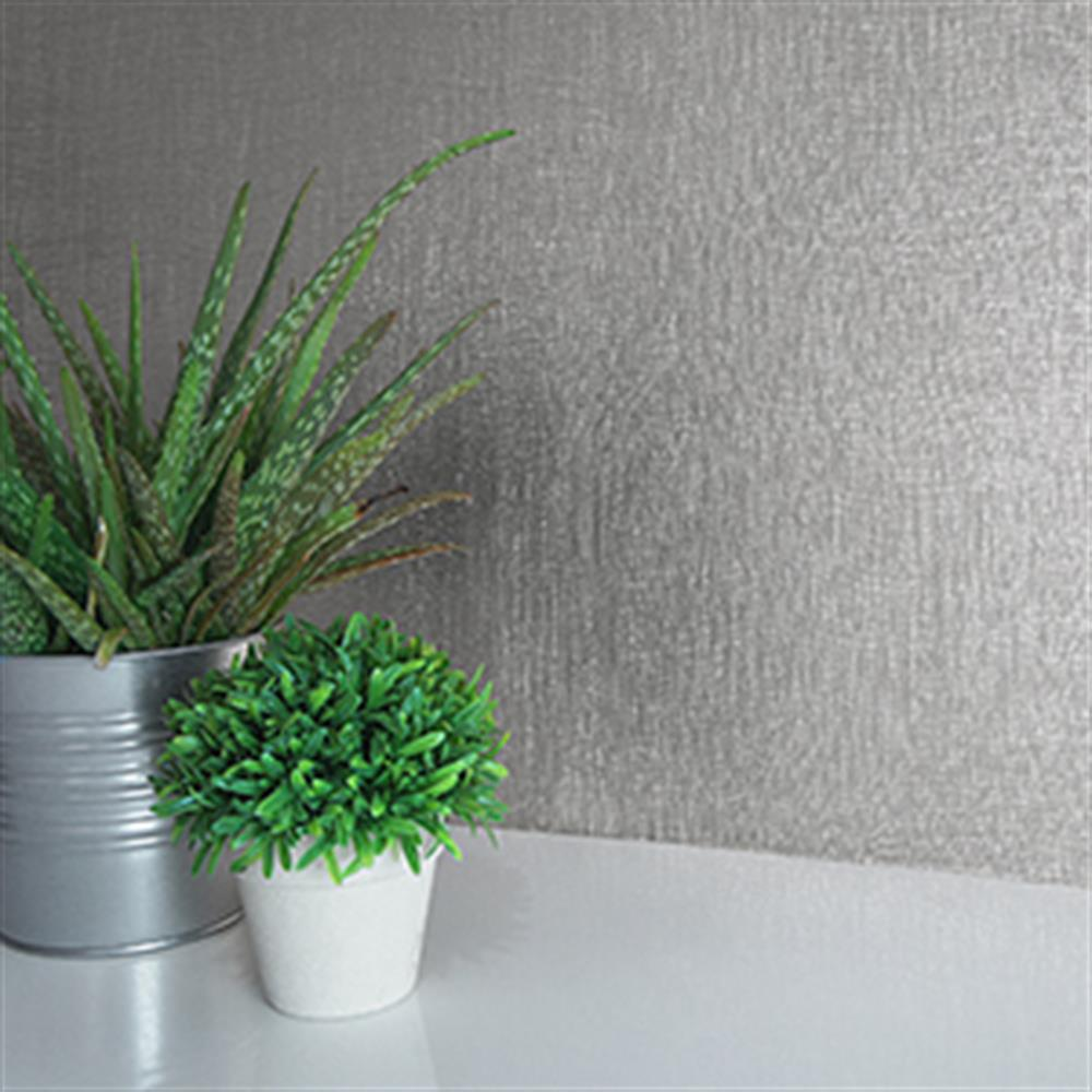 Picture of Statement Luxury Foil Wallcovering: Silver Foil Texture