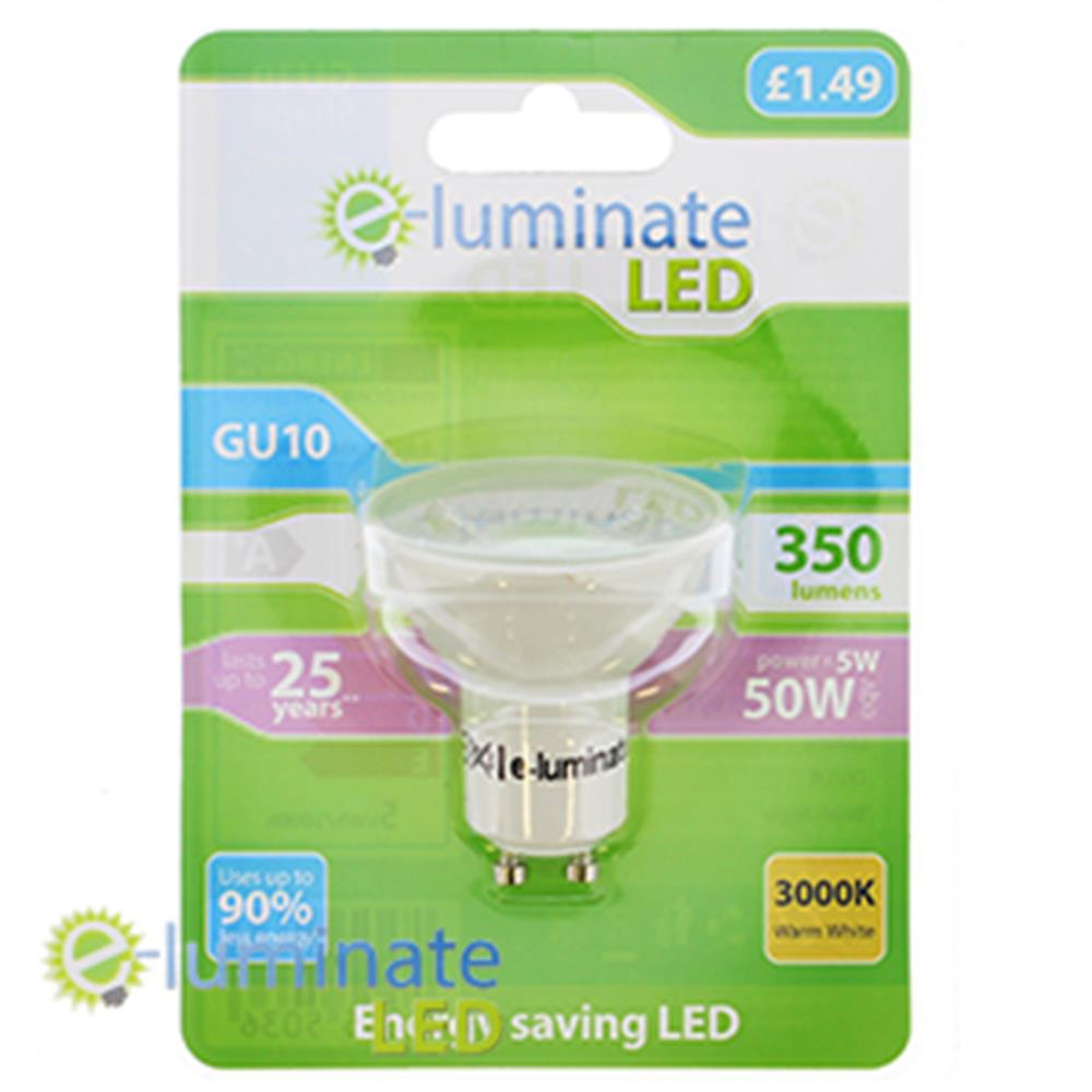 Picture of e-Luminate LED GU10 Warm White (Case of 6)