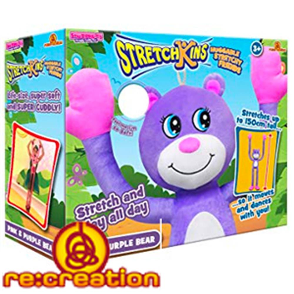 Buy Stretchkins Pink & Purple Bear at Home Bargains