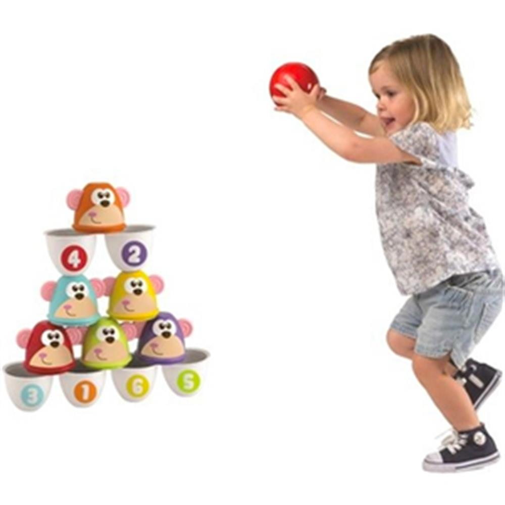Picture of Chicco Fit & Fun Monkey Strike Bowling Set