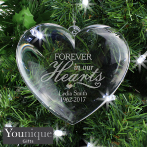 Picture of Personalised Forever in Our Hearts Heart Decoration