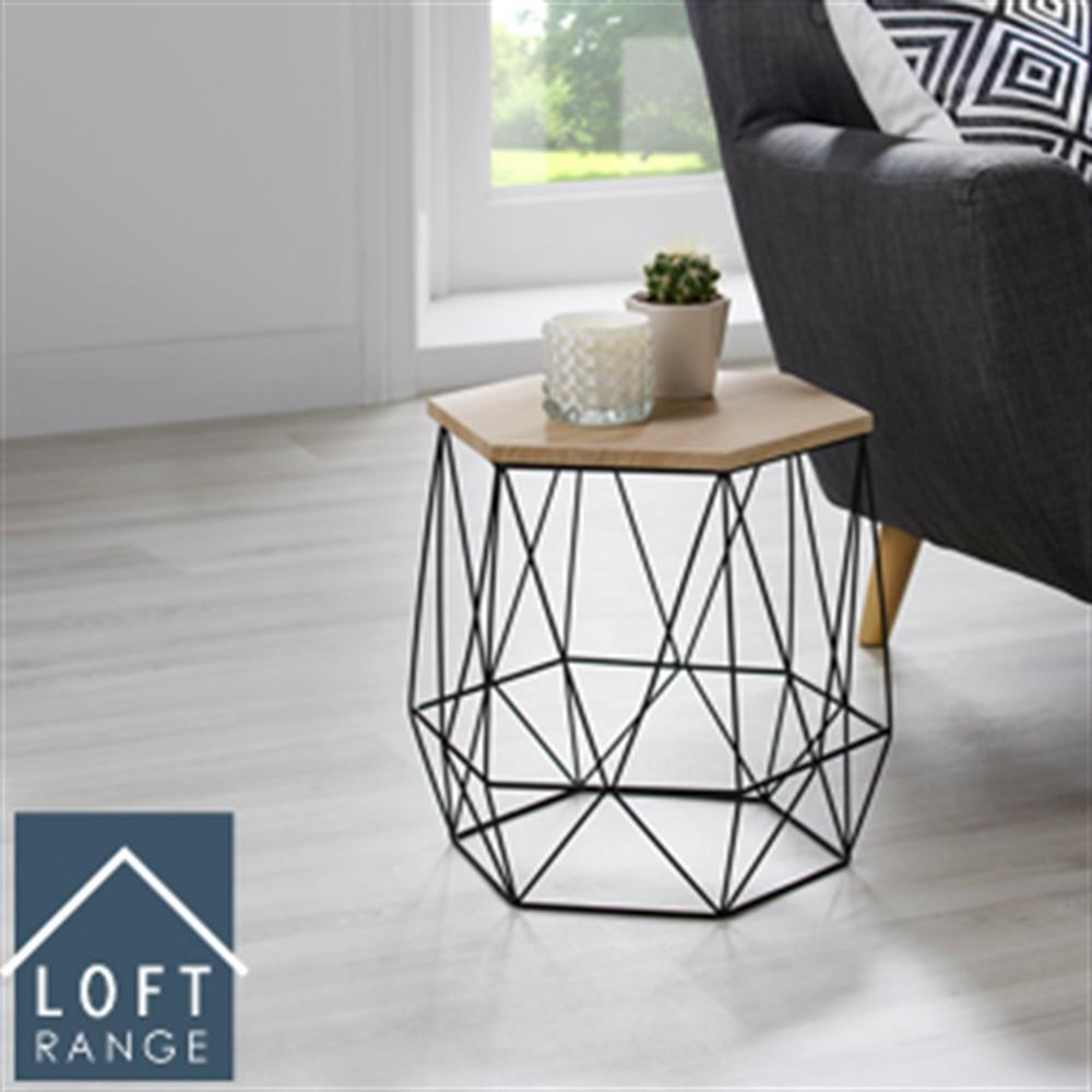 Picture of Loft Range Hexagon Wire Side Table