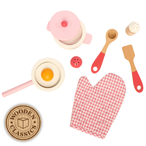 Picture of Wooden Classics Pink Cooking Set