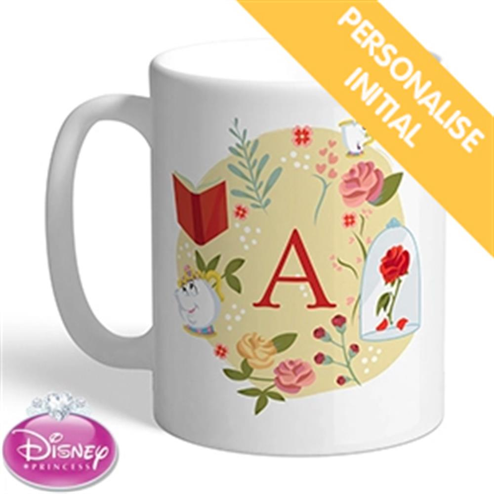Picture of Personalised Princess Belle Initial Mug
