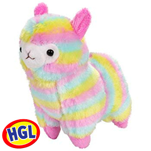 Picture of Rainbow Coloured Llama Plush Teddy 30cm