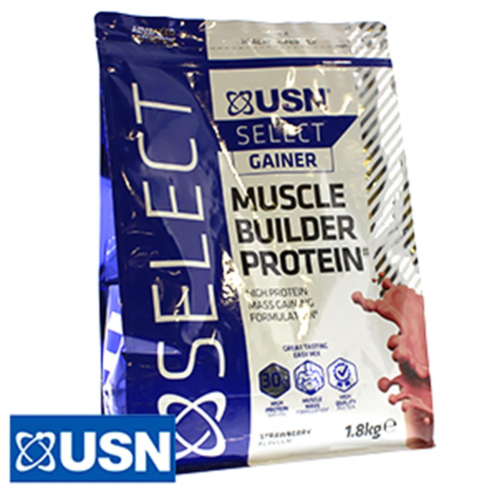 Picture of USN Gainer Muscle Builder Protein: Strawberry (1.8kg)