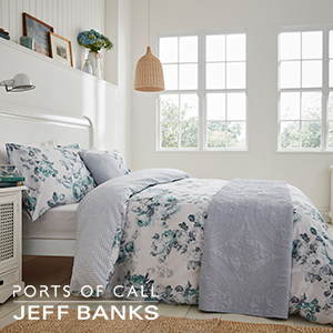 Picture of Jeff Banks Ports of Call: Hamilton Teal Bed Set