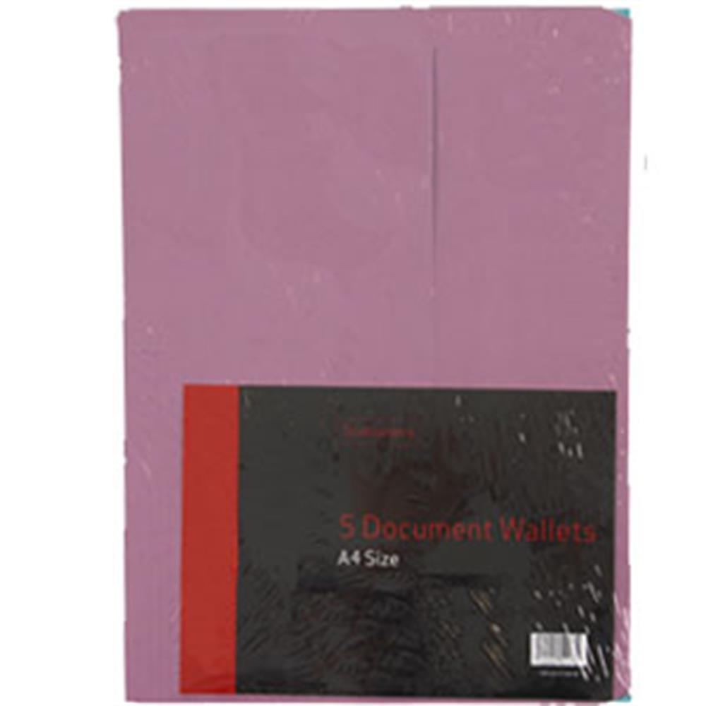Picture of Stationery A4 Document Wallets 5 Pack