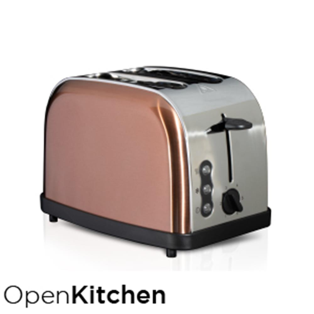 Picture of Open Kitchen 2 Slice Wide Slot Copper Effect Toaster