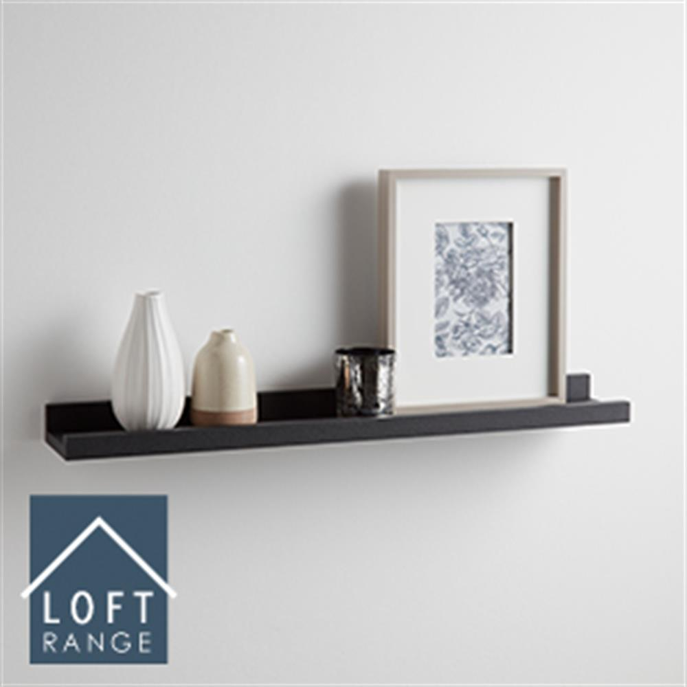 Picture of Loft Range: Photo Shelf (Black)