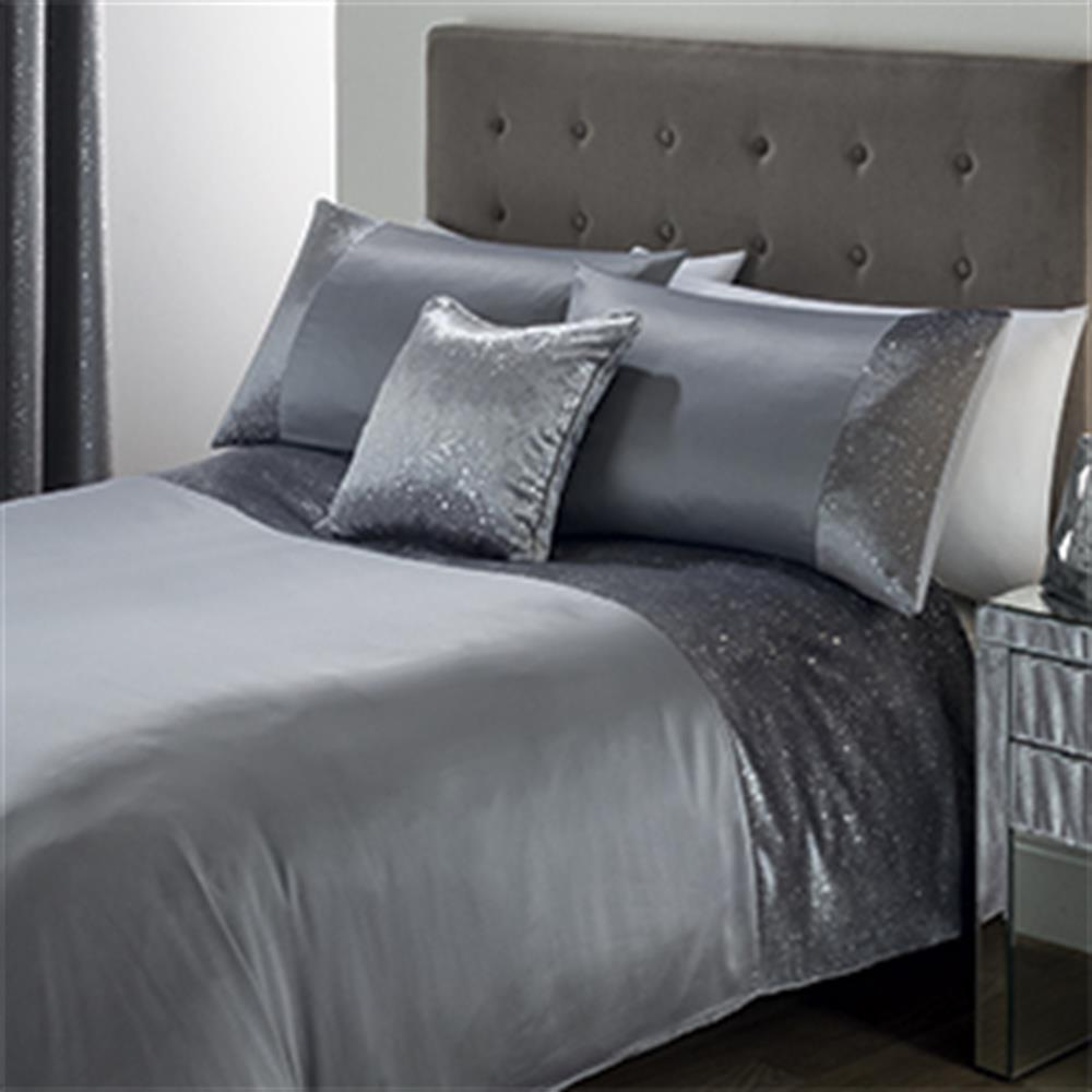 Picture of Luxury Splash Foil Bedding Set: Silver