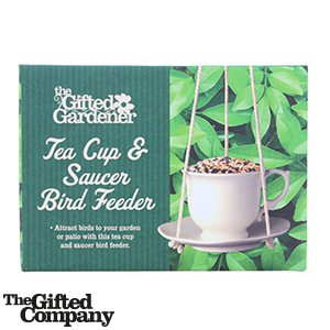 Picture of The Gifted Gardener: Tea Cup & Saucer Bird Feeder
