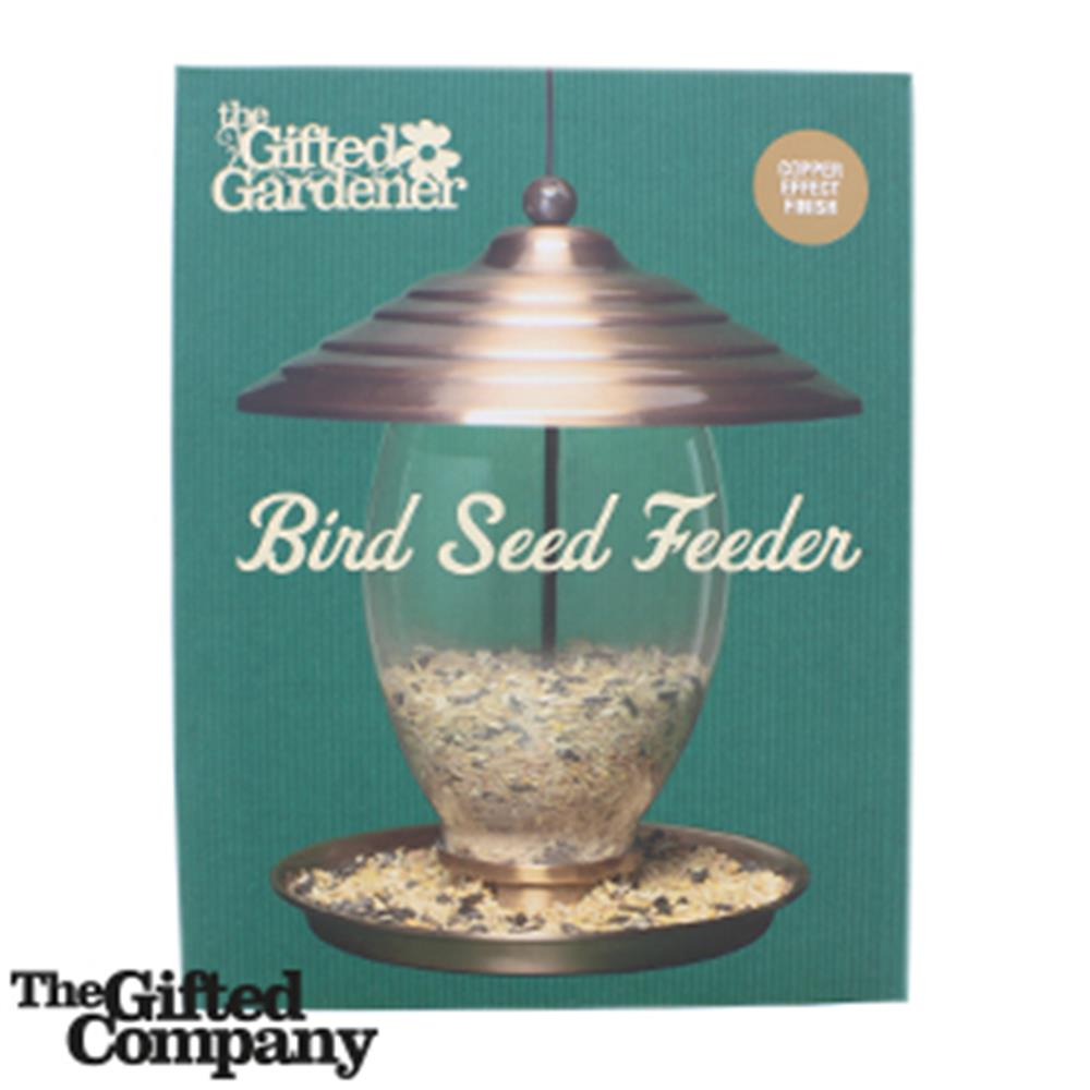 Picture of The Gifted Gardener: Copper Effect Bird Seed Feeder