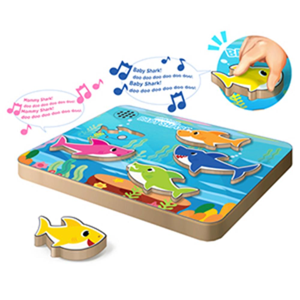 Picture of Pinkfong Baby Shark Wooden Sound Puzzle