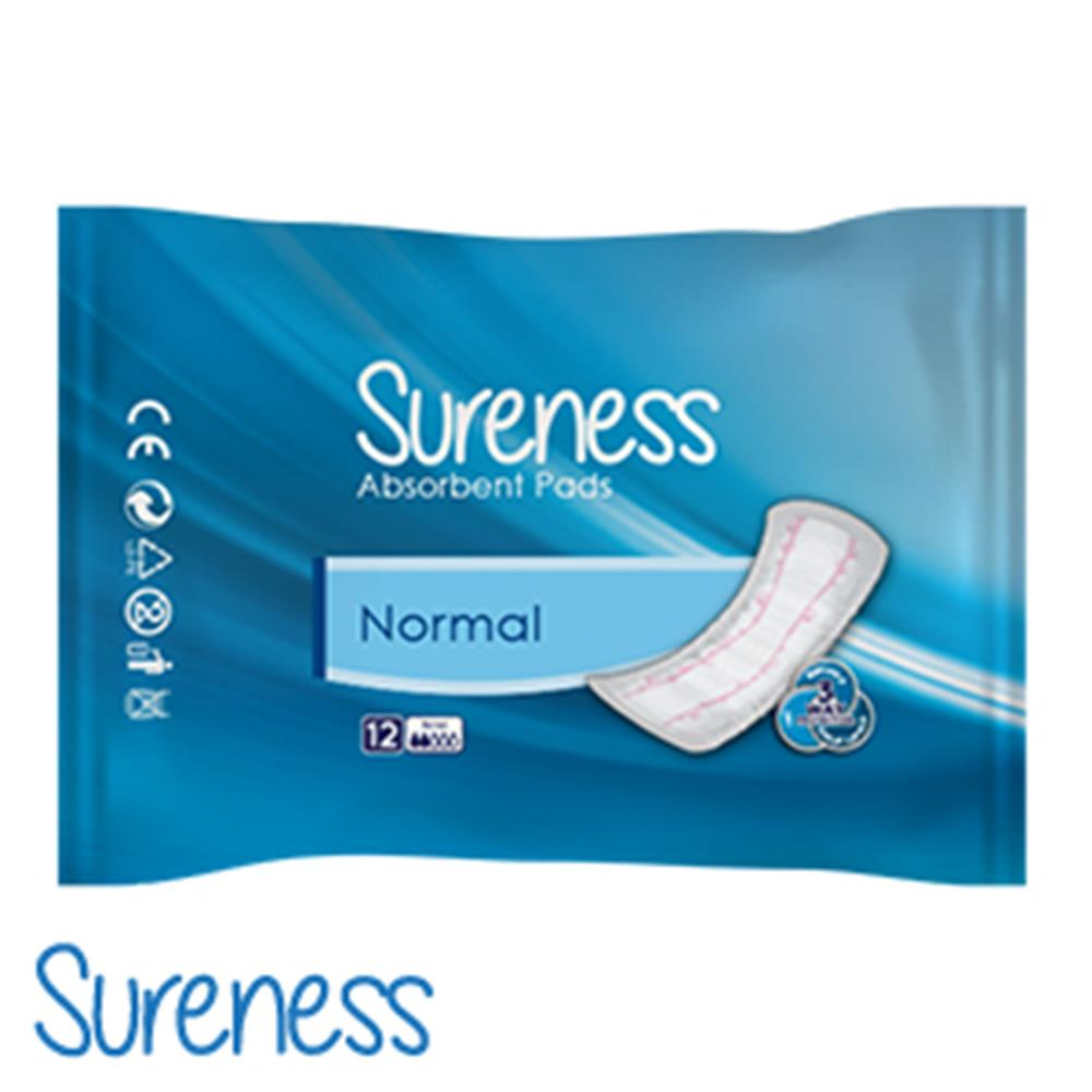 Picture of Sureness Absorbent Pads: Case of 144 (Normal)
