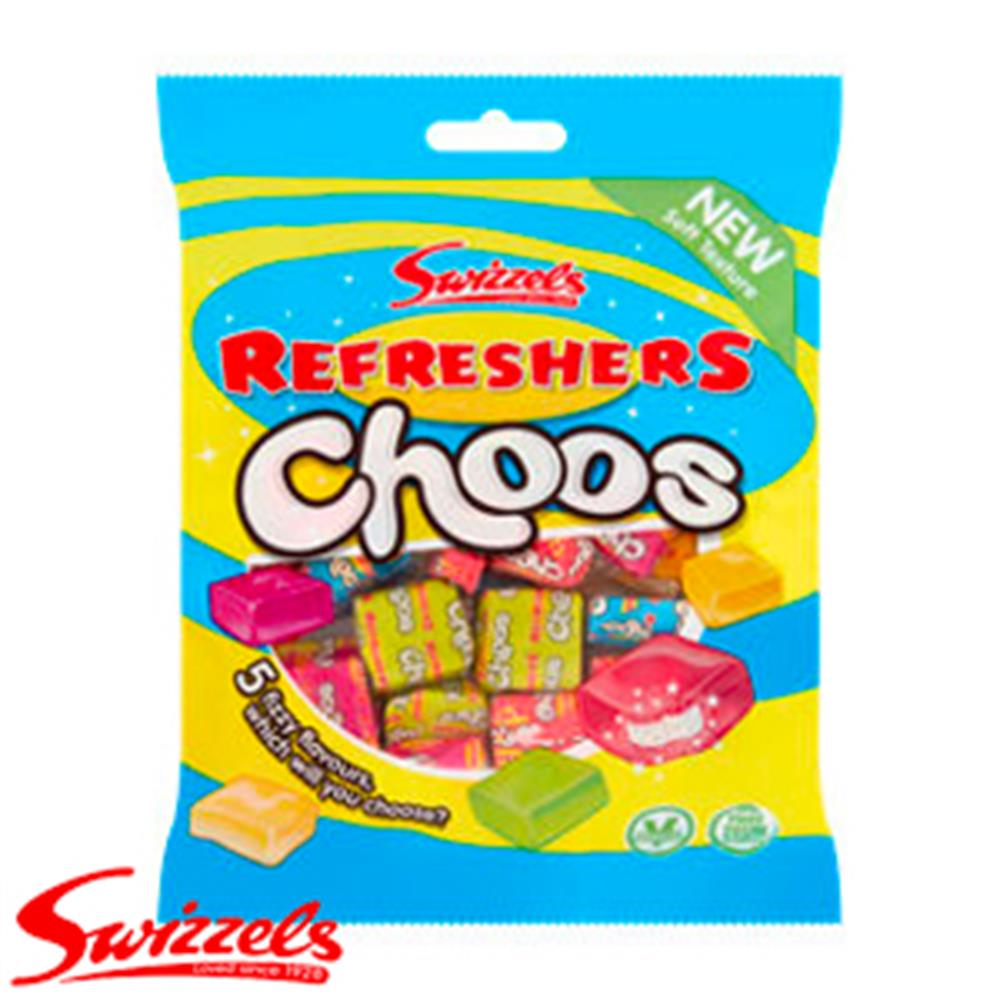 Picture of Swizzels Refresher Choos (12 x 150g Bags)