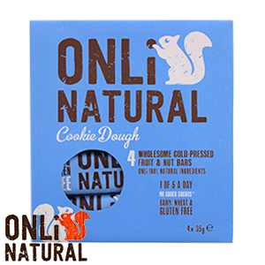 Picture of Onli Natural Fruit & Nut Bar: Cookie Dough (48 x 35g Bars)