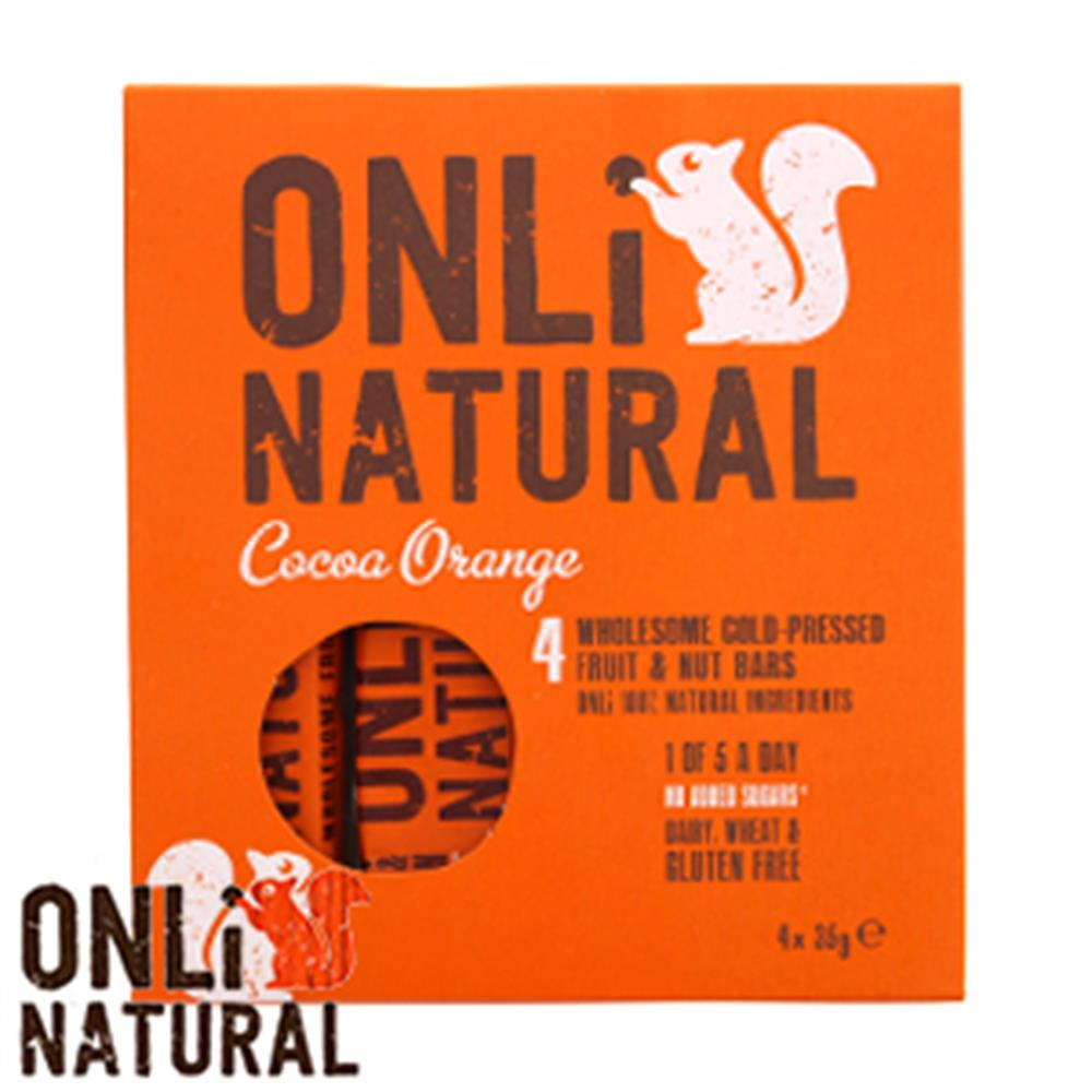 Picture of Onli Natural Fruit & Nut Bar: Cocoa Orange (48 x 35g Bars)