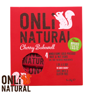 Picture of Onli Natural Fruit & Nut Bar: Cherry Bakewell (48 x 35g Bars)