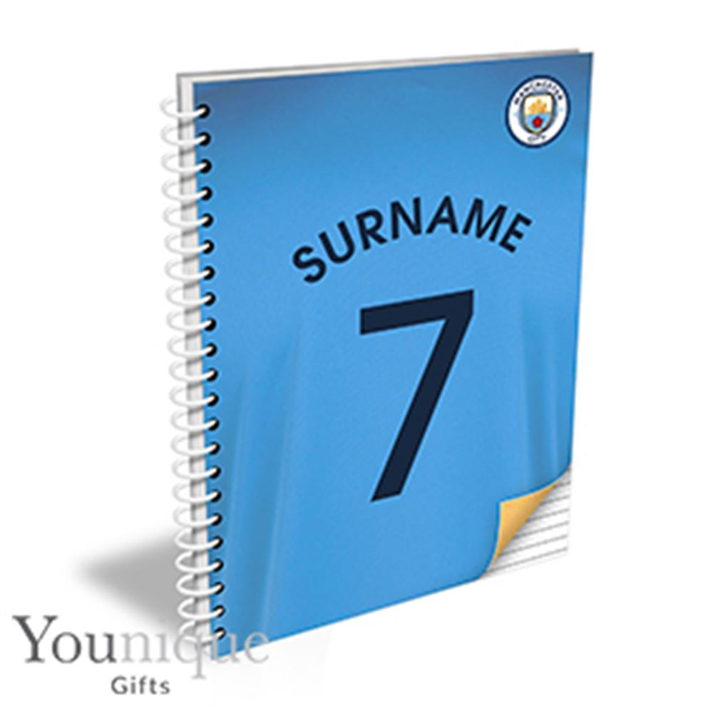 Picture of Personalised Manchester City A5 Notebook